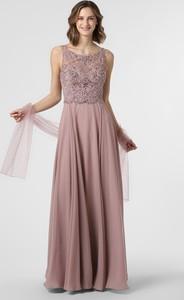 Sukienka Luxuar Fashion maxi rozkloszowana z okrągłym dekoltem