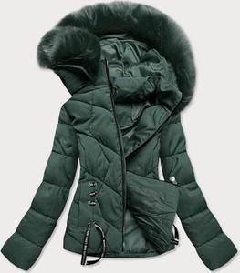 Zielona kurtka Goodlookin.pl krótka z kapturem w stylu casual