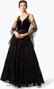 Czarna sukienka Unique maxi gorsetowa
