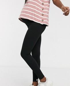 ASOS DESIGN Maternity – Prążkowane legginsy-Czarny