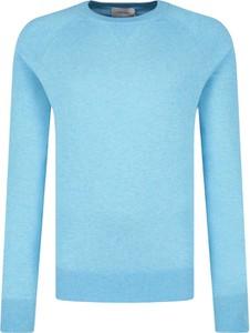 Niebieski sweter Calvin Klein z jedwabiu w stylu casual