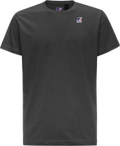 Czarny t-shirt K-Way w stylu casual