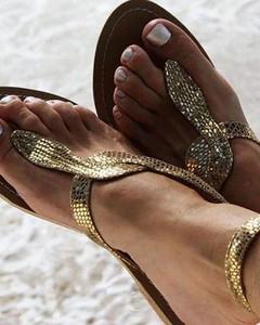 Złote sandały Kendallme