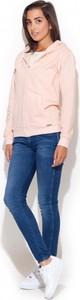 Różowa bluza Katrus z bawełny w młodzieżowym stylu