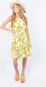 Żółta sukienka Olika bez rękawów