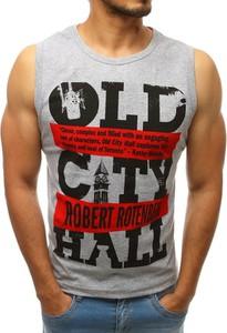 Koszulka Dstreet z nadrukiem z tkaniny w młodzieżowym stylu