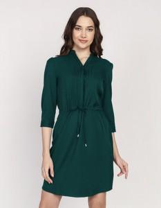 Zielona sukienka Lanti mini z długim rękawem