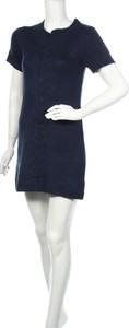 Granatowa sukienka Blue Motion z okrągłym dekoltem z krótkim rękawem mini
