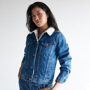 Niebieska kurtka Sinsay w stylu casual
