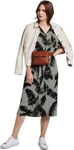 Sukienka Tom Tailor w stylu casual z dekoltem w kształcie litery v midi