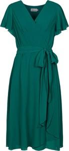 Sukienka Grandio kopertowa z dekoltem w kształcie litery v z krótkim rękawem