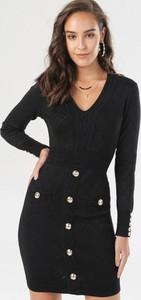 Czarna sukienka born2be mini w stylu casual