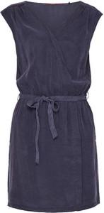 Niebieska sukienka S.Oliver bez rękawów w stylu casual z okrągłym dekoltem