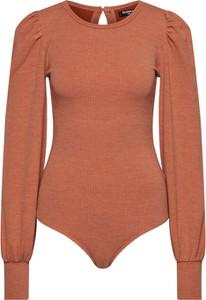 Pomarańczowa bluzka Fashion Union w stylu casual z dżerseju z okrągłym dekoltem
