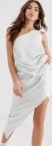 Srebrna sukienka Asos Design bez rękawów