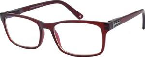 Czerwone okulary damskie Montana