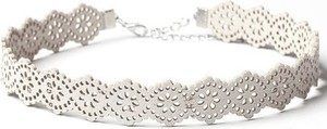 Fashion Jewellery Choker AŻUROWY - BIEL N318B