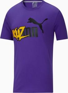 T-shirt Puma z bawełny w młodzieżowym stylu z krótkim rękawem