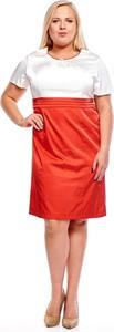 Sukienka Fokus z krótkim rękawem z tkaniny z okrągłym dekoltem