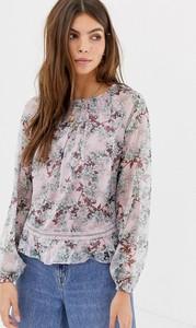 Fioletowa bluzka Glamorous z długim rękawem