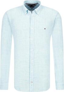 Koszula Tommy Hilfiger z długim rękawem z lnu w stylu casual