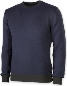 Granatowy sweter Willsoor z okrągłym dekoltem w stylu casual