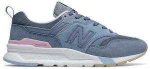 Niebieskie buty sportowe New Balance sznurowane z płaską podeszwą