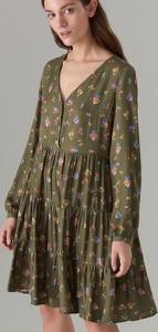 Zielona sukienka Mohito midi w stylu casual oversize