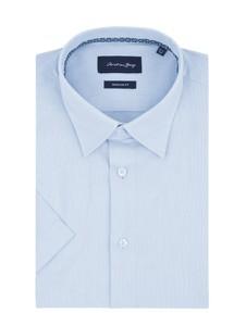 Niebieska koszula Christian Berg Men z krótkim rękawem
