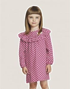 Różowa sukienka minimi z długim rękawem