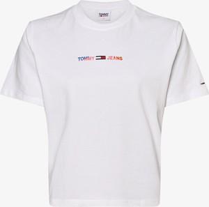 T-shirt Tommy Jeans z bawełny z okrągłym dekoltem