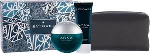 Bvlgari Aqva Pour Homme Woda toaletowa 100 ml + Balsam po goleniu 100 ml + Kosmetyczka