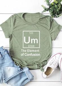 Zielona bluzka Cikelly z okrągłym dekoltem