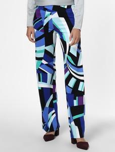 Spodnie Marc Cain w geometryczne wzory w stylu retro