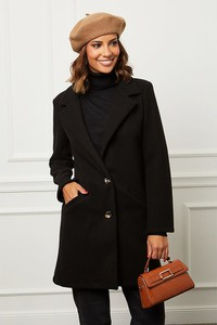 Czarny płaszcz Le Comptoir Du Manteau