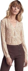 Bluzka Colett z dekoltem w kształcie litery v z długim rękawem