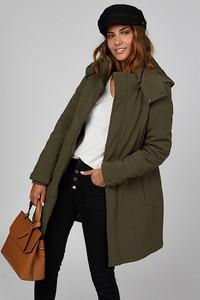 Zielony płaszcz Le Comptoir Du Manteau w stylu casual