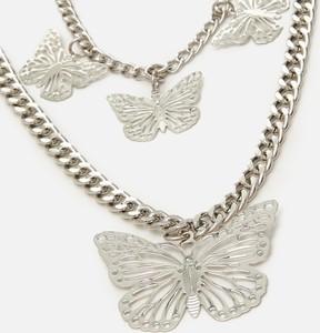 Cropp - Łańcuch do spodni z motylami - Srebrny