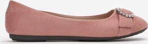 Różowe baleriny Multu w stylu casual