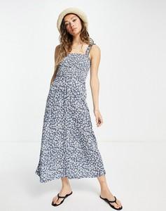 Granatowa sukienka Only na ramiączkach