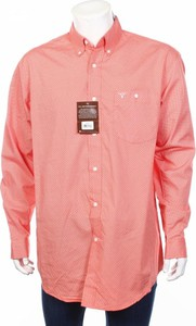 Różowa koszula Wrangler z długim rękawem
