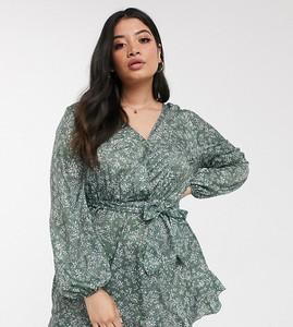 Sukienka In The Style Plus z długim rękawem mini