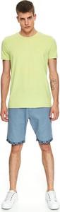 Zielony t-shirt Top Secret z krótkim rękawem
