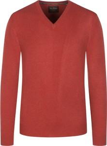 Czerwony sweter Tom Rusborg z kaszmiru