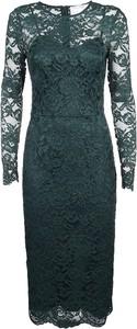Zielona sukienka Elisabetta Franchi z długim rękawem