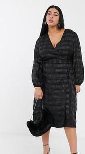 Czarna sukienka Glamorous Curve z dekoltem w kształcie litery v