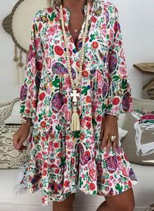 Sukienka Cikelly mini z dekoltem w kształcie litery v