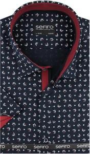 Koszula Sefiro z tkaniny w młodzieżowym stylu z krótkim rękawem
