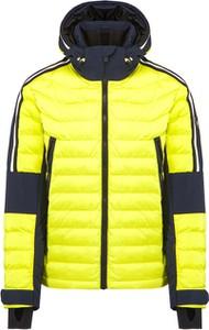 Żółta kurtka Toni Sailer z tkaniny