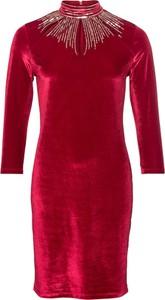 Sukienka bonprix BODYFLIRT boutique midi z długim rękawem